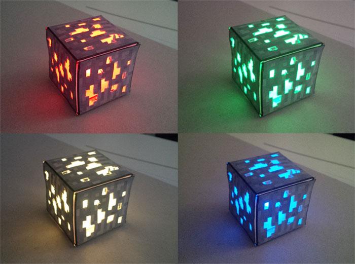 Lampe minerai Minecraft : s'éclairer avec un bloc d'or ?
