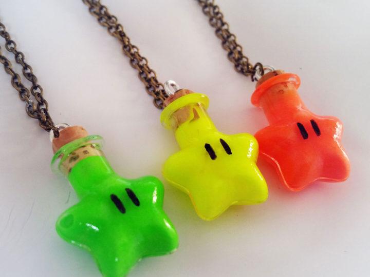 Collier étoile de Mario – un collier phosphorescent !